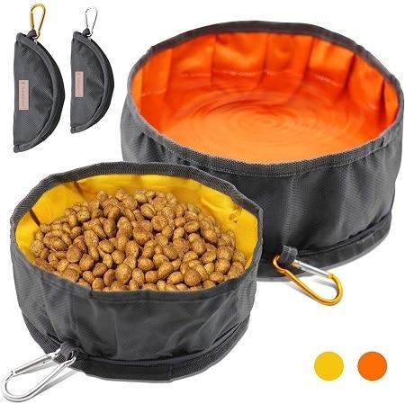 9LumoLeaf Collapsible Dog Travel Bowls