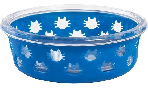 Frisco Cat Design Glass Bowl with Silicone Sleeve