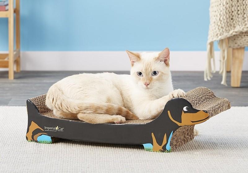 Imperial Cat Dachshund Cat Scratching Board, Large, Black