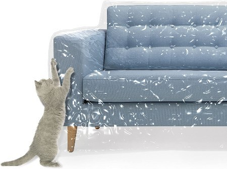 Kitty Cat Protector Plastic Couch Cover