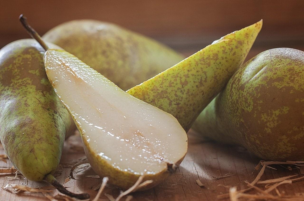 pear cut in half