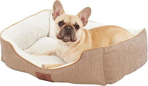 American Kennel Club Box Weave Design Bolster Cat & Dog Bed