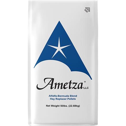 Ametza Alfalfa-Bermuda Blend Hay Replacer Pellets All-Natural Farm Animal & Horse Forage