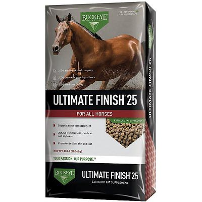 Buckeye Nutrition Ultimate Finish 25 High-Fat Weight Gain Pellets Horse Supplement