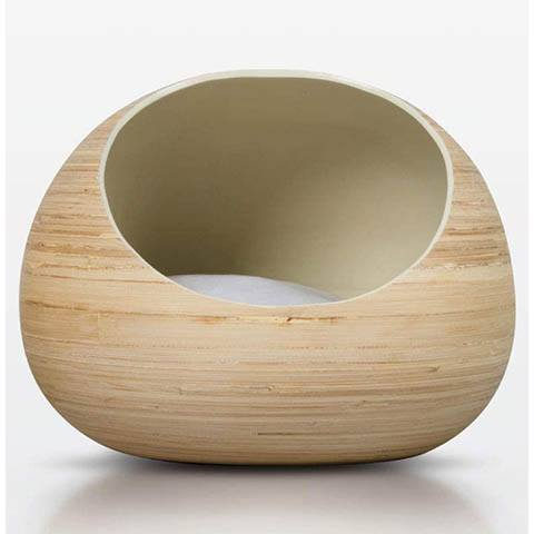 Fhasso Luxury Bamboo Pet Bed