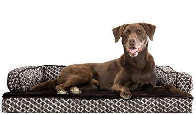 FurHaven Couch Orthopedic Bolster Dog Bed