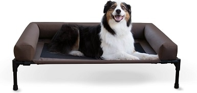 K&H Pet Products Bolster Elevated Dog Bed