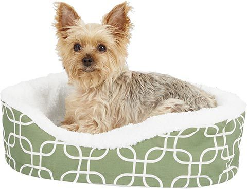 MidWest QuietTime Defender Orthopedic Bolster Cat & Dog Bed Removable Cover