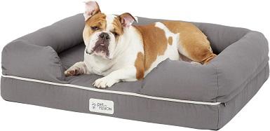 PetFusion Memory Foam Bolster Dog Bed