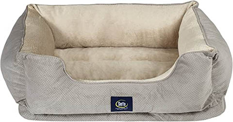 Serta Orthopedic Bolster Dog Bed w:Removable Cover