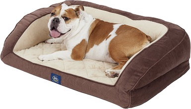 Serta Quilted Orthopedic Bolster Dog Bed