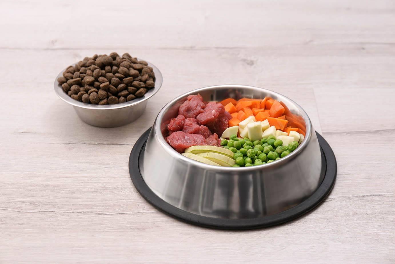 dog food with peas