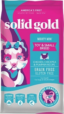 6Solid Gold Mighty Mini Toy & Small Breed Gut Health Chicken, Chickpea & Pumpkin Grain-Free Dry Dog Food