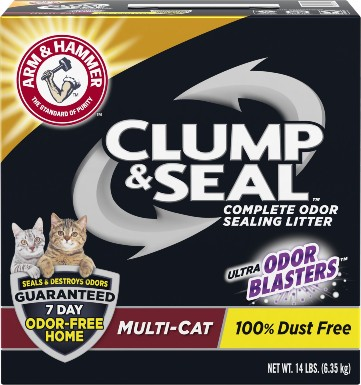 Arm & Hammer Clump & Seal Multi-Cat Scented Clumping Clay Cat Litter