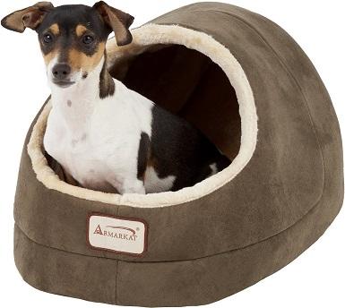 Armarkat Cave Shape Covered Dog Bed