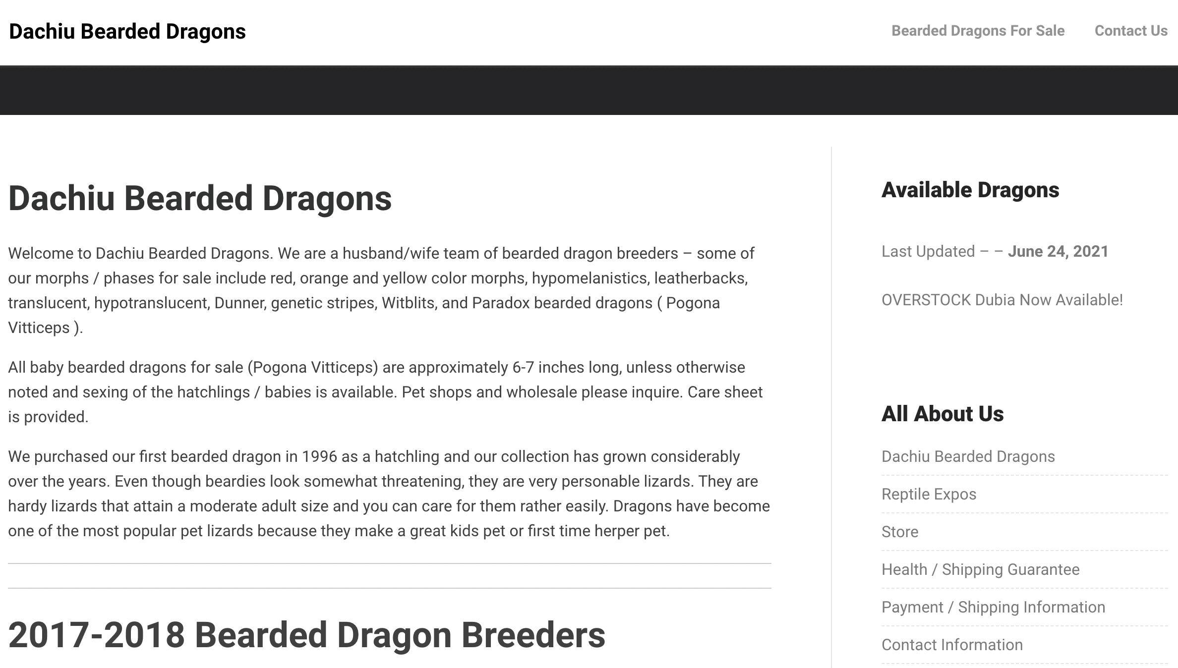 Dachiu Bearded Dragons