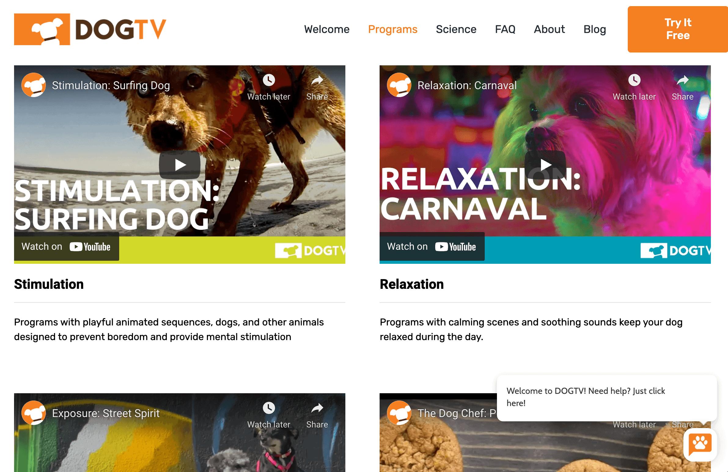 DogTV Programs