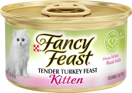 Fancy Feast Kitten Tender Turkey Feast Canned Kitten Food