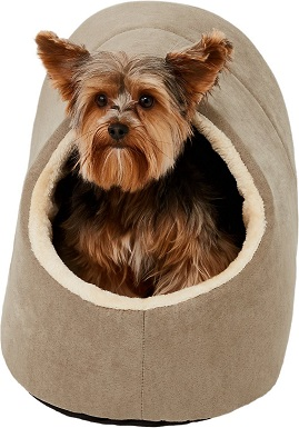 Frisco Cave Covered Dog Bed