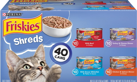 Friskies Shreds in Gravy canned cat food_Chewy