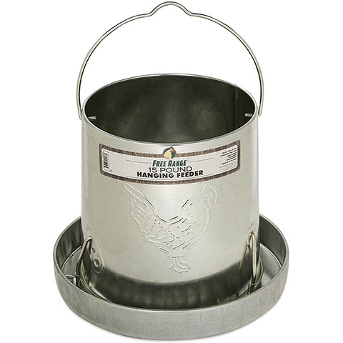 Harris Farms 1000293 Galvanized Hanging Poultry Feeder