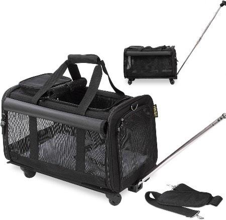 KOPEKS Detachable Wheel Pet Carrier