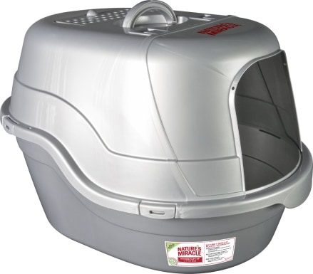 Nature's Miracle Silver Oval litter box_Chewy