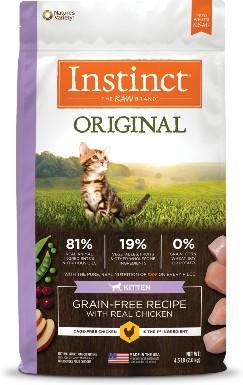Nature's Variety Instinct Original Kitten Grain-Free Recipe With Real Chicken Freeze-Dried