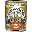 Newman's Own Organics Grain-Free 95% Chicken & Liver Dinner