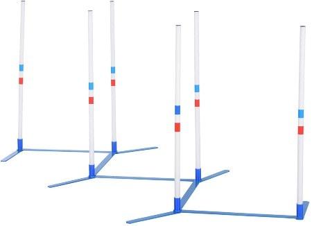 PawHut Adjustable Agility Obstacle Set