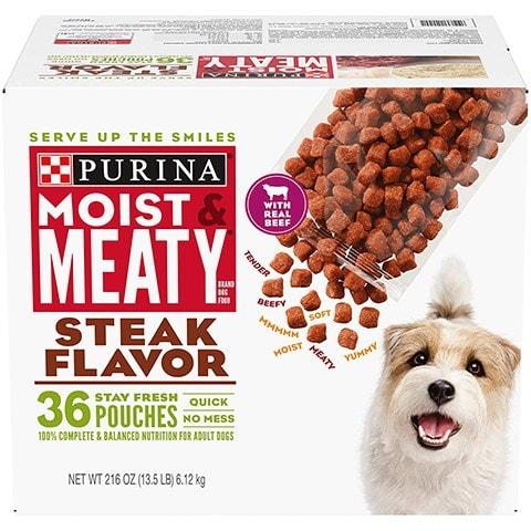 Purina Moist & Meaty Steak Flavor
