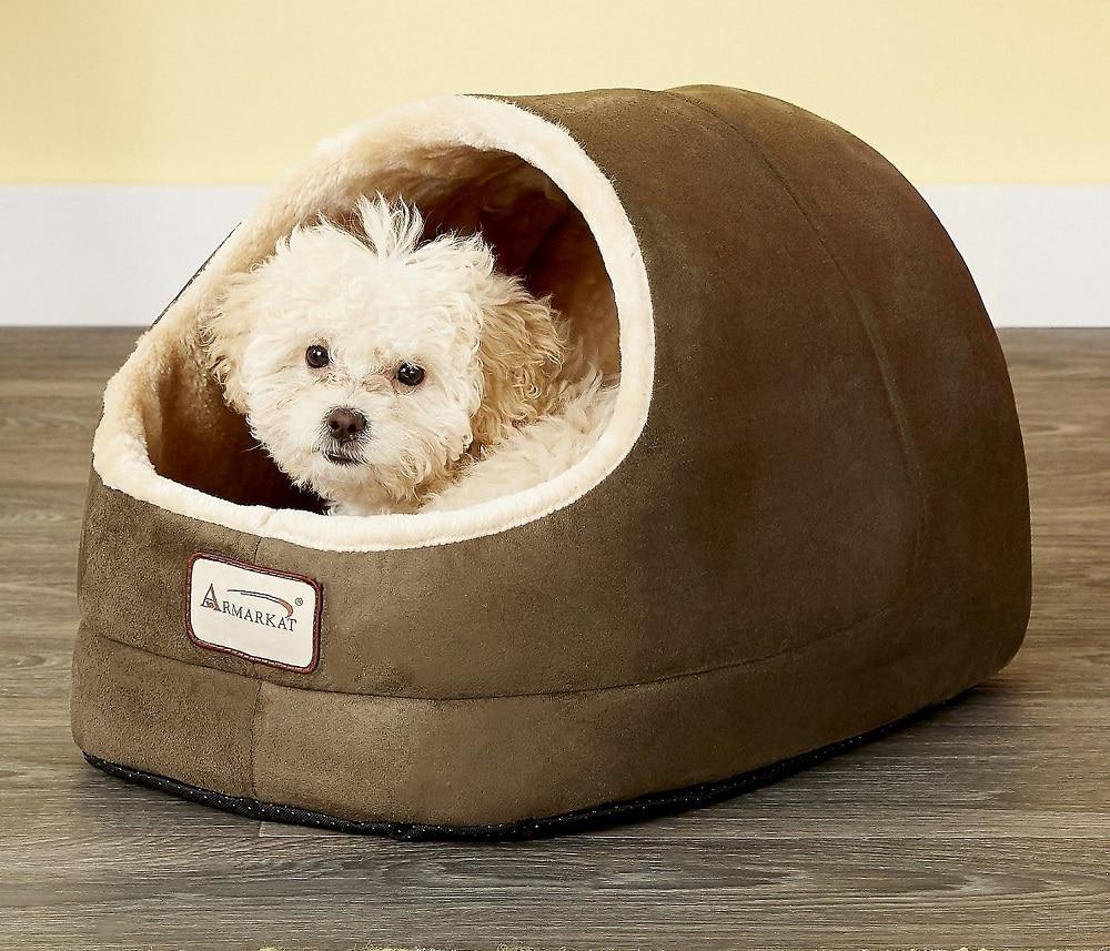 Shih Tzu in dog bed cave