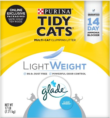 Tidy Cats Lightweight Glade Scented Clumping Clay Cat Litter