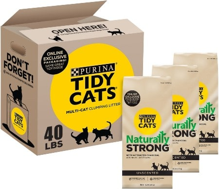 Tidy Cats Naturally Strong Unscented Clumping Clay Cat Litter