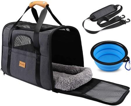 morpilot Pet Travel Carrier Bag, Portable Pet Bag - Folding Fabric Pet Carrier