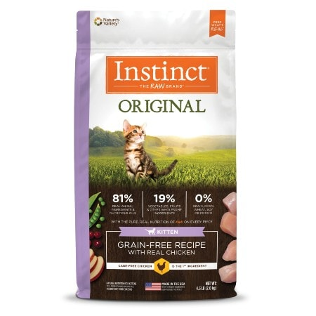 Instinct Original Kitten Grain-Free Recipe with Real Chicken Freeze-Dried Raw Coated Dry Cat Food