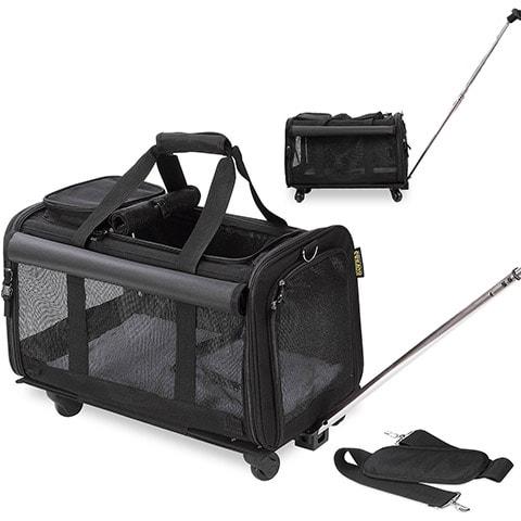 KOPEKS Detachable Wheel Dog & Cat Carrier Bag
