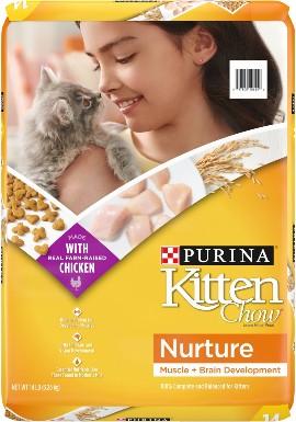 Kitten Chow Nurture Muscle & Brain Development Dry Cat Food