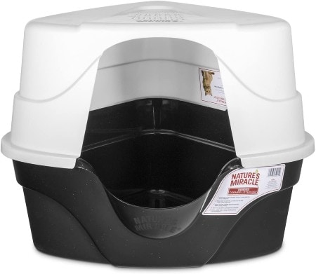 Nature's Miracle Just for Cats Advanced Hooded Corner Cat Litter Box