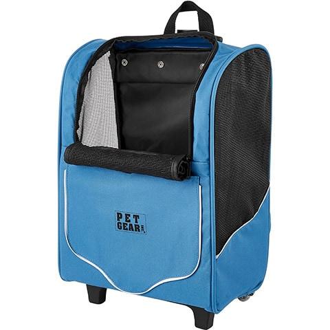 Pet Gear I-GO2 Sport Dog & Cat Backpack & Rolling Carrier