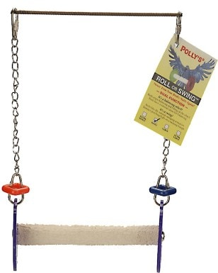 Polly's Pet Products Roll Or Swing Bird Toy
