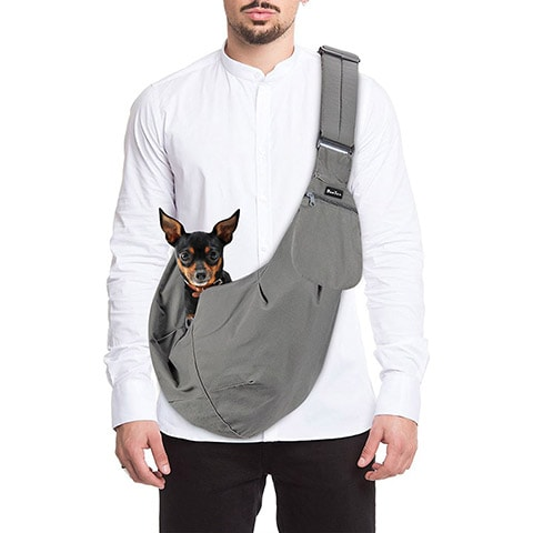 SlowTon Hands-Free Padded and Adjustable Sling Dog & Cat Carrier