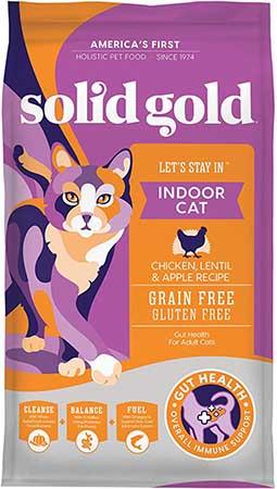 Solid Gold Indoor Cat Chicken Lentil, Apple