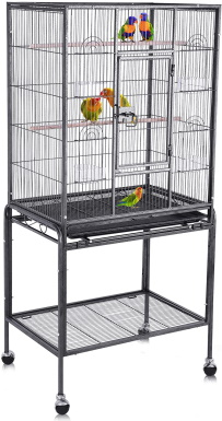 Bellanny Bird Cage with Rolling Stand