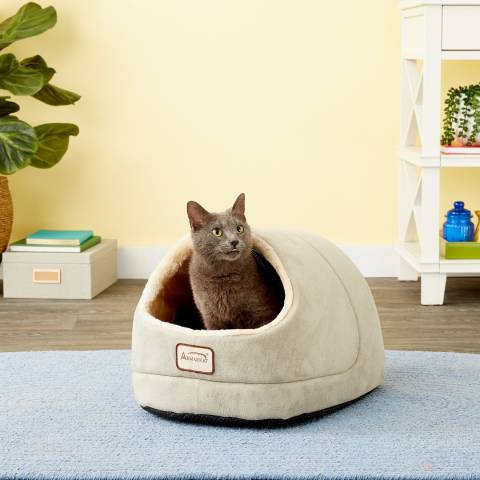 Armarkat Cave Shape Covered Cat & Dog Bed (1)