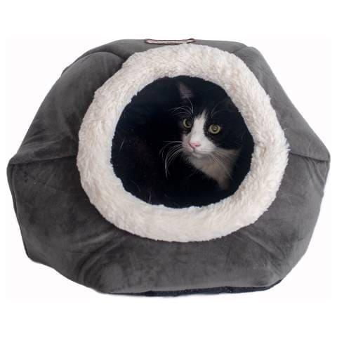 Armarkat Gray Velvet Cat Bed (2)
