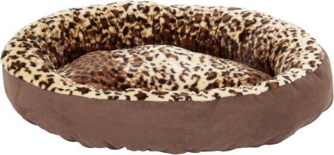 Aspen Pet Round Animal Print Bolster Cat Bed