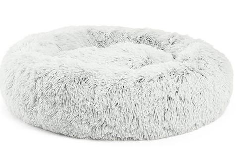 Best Friends by Sheri Calming Shag Fur Donut Cuddler Cat Bed