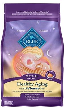 ब्लू बफेलो स्वस्थ उम्र बढ़ने बिल्ली का खाना