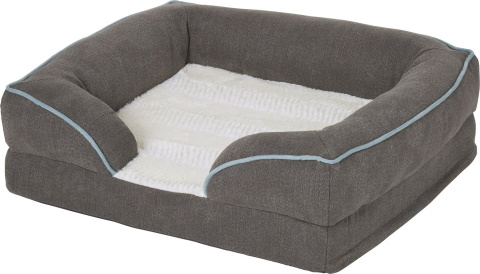Frisco Plush Orthopedic Front Bolster Cat Bed
